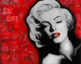 Marilyn Monroe, Wall Decor Art Print from Jamie Rice's Original Painting.