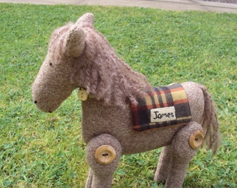 Pony with Checked Blanket