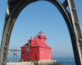 Door County Pier Head Lighthouse Canvas Print 6x6 to 20x20