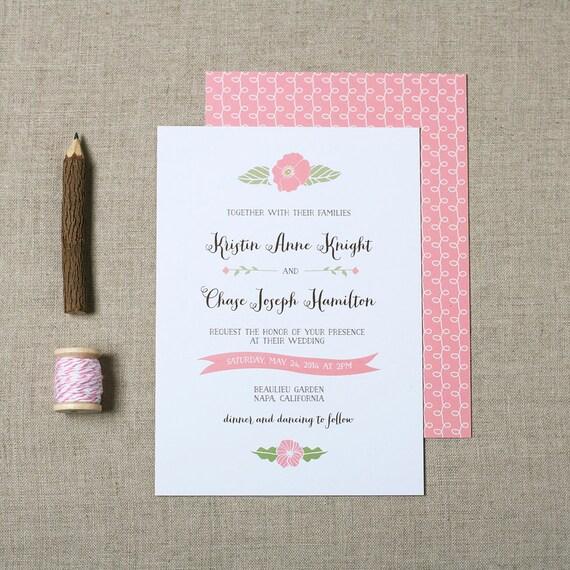 Items similar to wedding invitations vintage floral on etsy for Garden wedding invitation designs