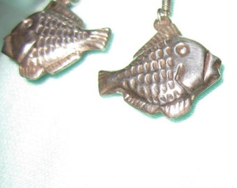 Sterling silver tropical fish earrings