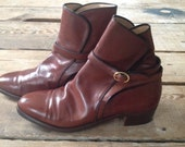 TANINO CRISCI COGNAC Brown Leather Ankle boots