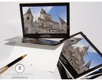 St. Louis Cathedral Cards - New Orleans Notecards - Jackson Square - French Quarter Folded Cards - theRDBcollection