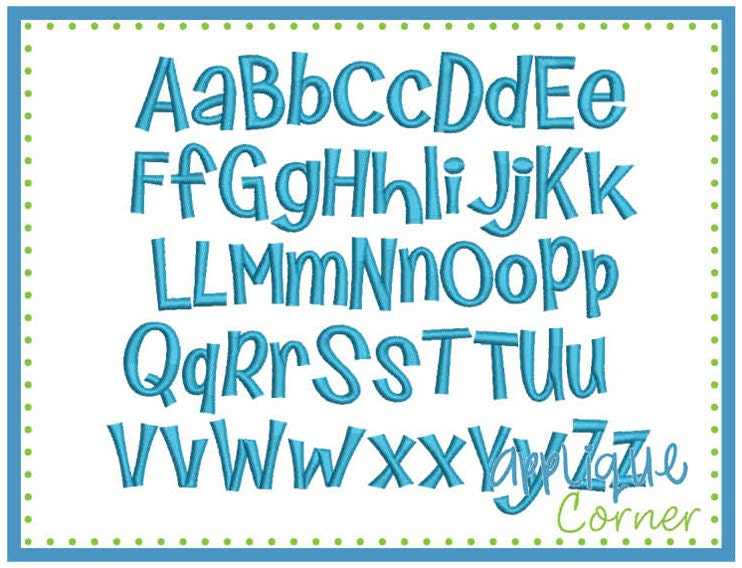 Chatty kathy embroidery font in bx dst jef pes only