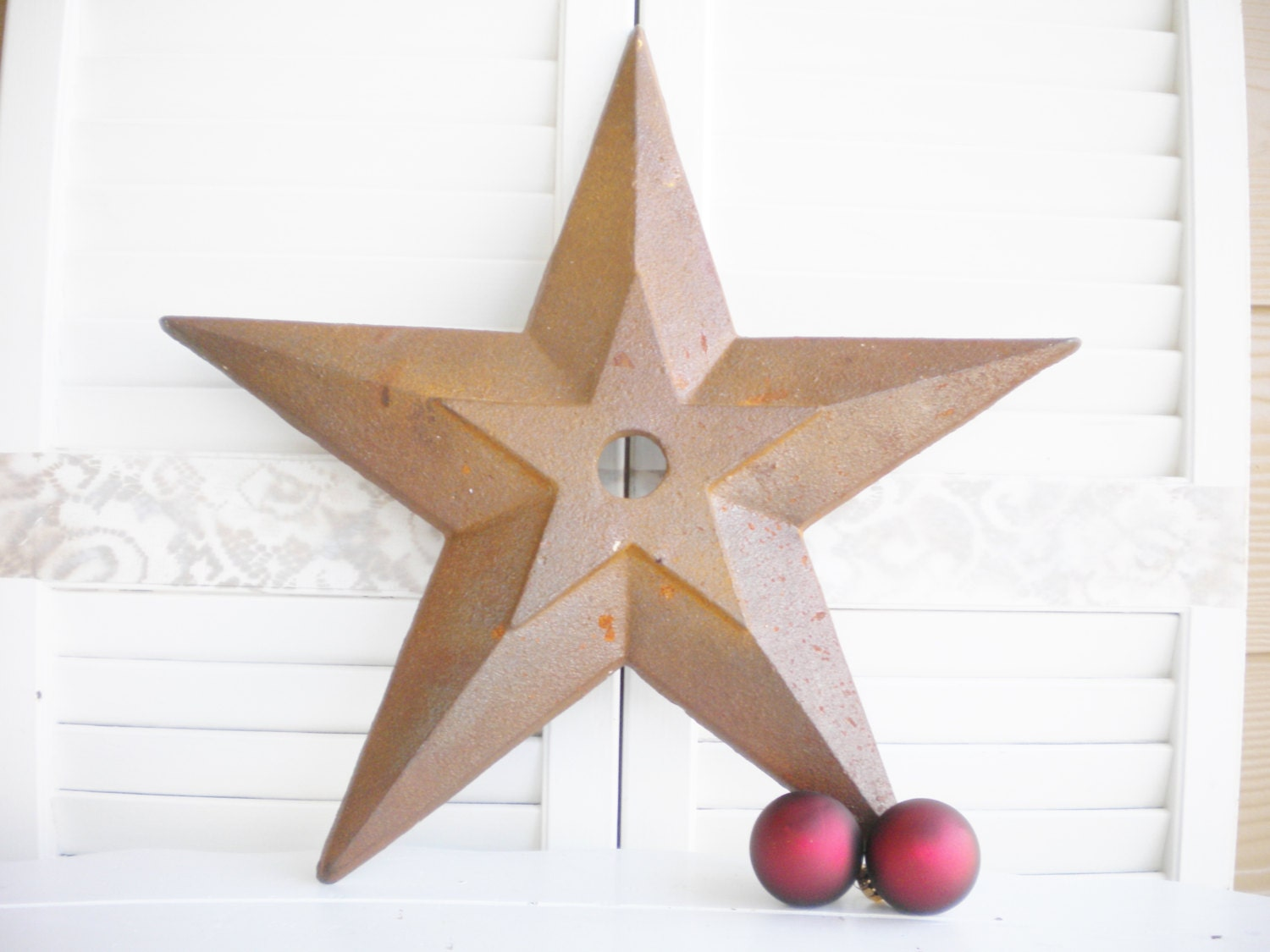 Wall Art Metal Stars : Rustic metal star wall art weddingchristmascottage