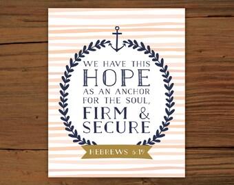 Hebrews 6:19 Print