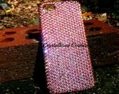 "Iphone X(5.8"") Light Rose AB Bling Back Case embellished with Swarovski® crystals"