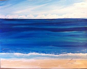 Blue Caribbean Waters  - Original Framed Painting
