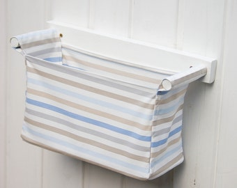 wall hanging organizer with 1 storage bin ikea emmie rand in blue