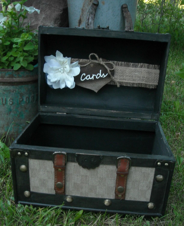 Card Holder Country Wedding Ideas: Wedding Trunk Card Holder Western Wedding Card Holder Rustic