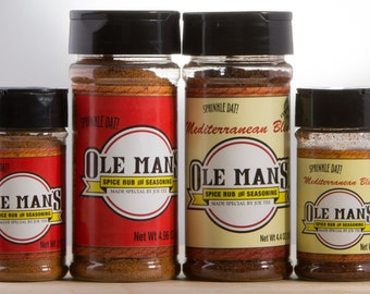 Ole Man's Spice Rub & Seasoning Holiday Seasoning Sampler -Free Shipping!!