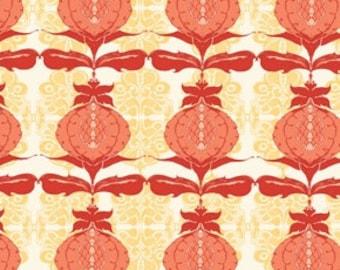 ONE Yard - Tina Givens - Lilliput Fields - Pomegranate - Ivory