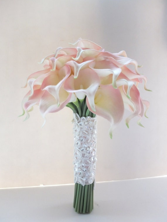 Blush Pink Calla Lily Bouquet Bridal Wedding