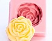 Cabbage Rose Fondant Mold - Gum Paste Mold - Chocolate Mold - Ice Mold - Flexible Food Grade Silicone Mold (532)