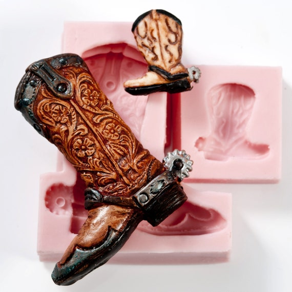 Cowboy Boot Silicone Mold Set Food Safe Mold For Fondant