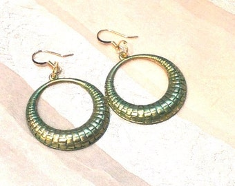 Serpent Circle Earrings Handmade Jewelry