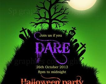 Halloween Invitation – Custom - Halloween Party Invite Printable