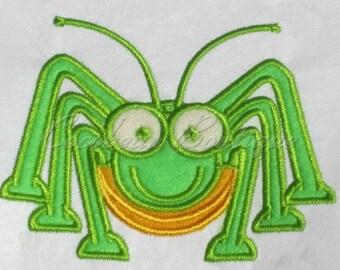 Grasshopper embroidery applique-Instant download