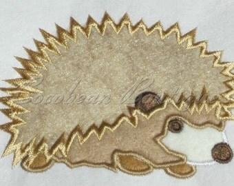 embroidery applique Hedgehog