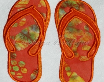 embroidery applique Sandals