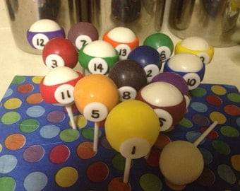 Pool Ball Cake Pops