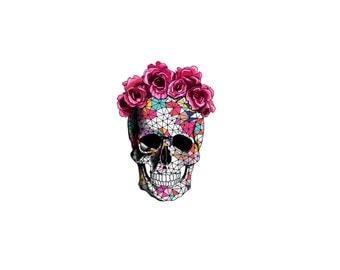 Sugar Skull Tattoo - Cinco De Mayo Tattoo - Mexico Tattoo - Skull Tattoo - Halloween Tattoo