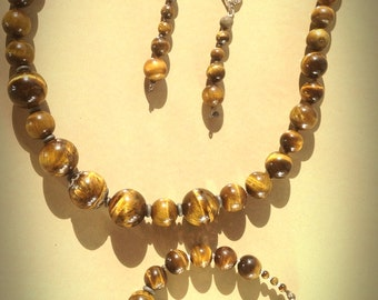 Tigers  Eye Jewellery Set