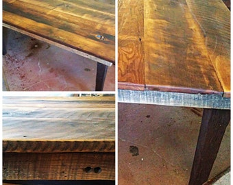 Reclaimed wood primitive 6 ft table