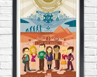 The Big Bang Theory - All Characters - Intro - 19x13 Poster