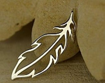 Sterling Silver Feather Charm, Open Feather Charm, Silver Feather Charm, Silver Peace Charm, Silver Feather, Feather Charm
