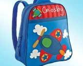 Backpack - Personalized and Embroidered - Go Go Bag - AIRPLANE
