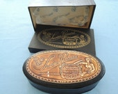SALE - Watch Box, Lucien Piccard, OVAL Presentation, vintage, beautiful condition, box within a box.