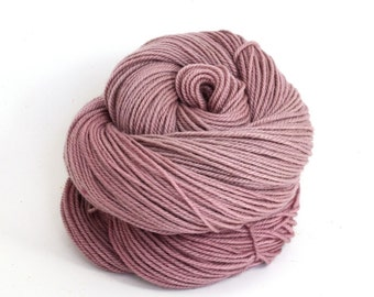 Zeta - Hand Dyed Polwarth Wool and Silk DK Sport Yarn - Colorway: Tea Rose