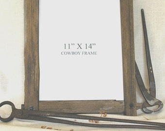 Rustic fencepost picture frame
