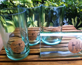 Wine Bottle Tumblers - Set of Four (4)