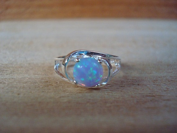 Genuine Magical Blue Mystical Opal 925 Sterling Silver Ring