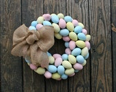 Spring Wreath, Easter Wreath, Colorful Easter Egg Wreath, Colorful Egg Wreath