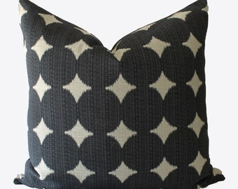 Decorative Designer Dwell Studio, Black Geometric, 18x18, 20x20, 22x22 or Lumbar, Throw Pillows
