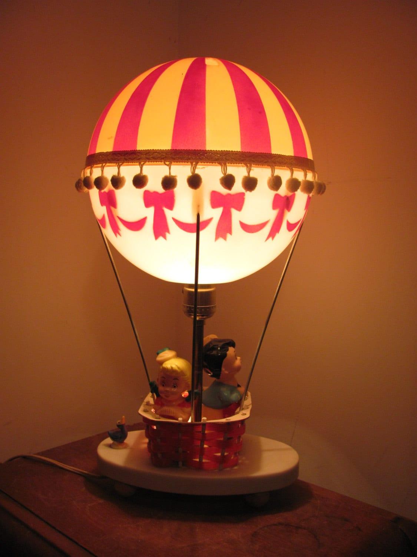 Vintage Hot Air Balloon Lamp Nightlight Dolly Toy Company