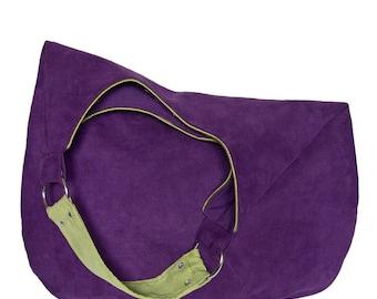 violet PLUS -  shoulder hobo bag, intensely colored tote bag