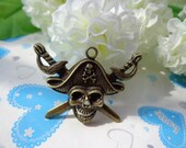 SALE--Lovely Pirates Pendant-- 20pcs Antique bronze Charm Pendants33x45mm