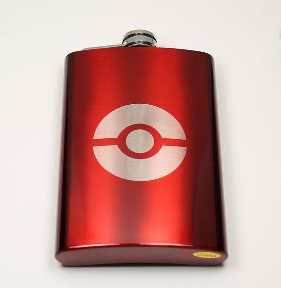 Pokemon 8 oz Pokeball Flask