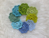 Crocheted Coasters, Cotton Coasters, Pick Your Color, READY TO SHIP