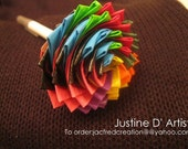 Multi Colored Duct Tape Rose Pen