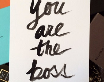 "9x12"" You Are The Boss - Original Painting Gouache on 9x12"" 140 lb. paper - Only One"