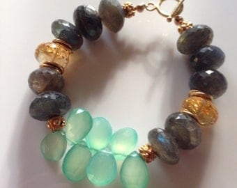 Multi Gemstone Statement Bracelet