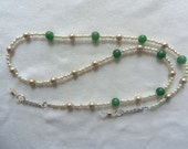 EYEGLASS CHAIN, Aventurine Gemstones