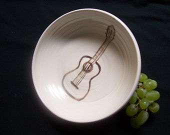 guitar cereal bowl