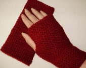 Ready to Ship*Hand Knit Fingerless Gloves Hand Warmer Mitts Inspired by Amy Pond Pandorica Opens in Cranberry Red Ashlee's Knits Cosplay