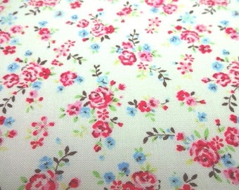 Japanese Fabric Basic Flower White  Fat Quarter
